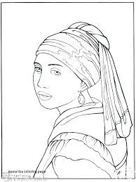 Genuine Mona Lisa Coloring Page I8783 The More Pins Like This At