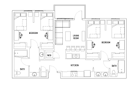 floor plans.  Plans 2 Bed  Bath Shared Intended Floor Plans R