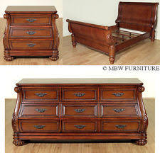 mahogany bedroom furniture. 3 pc mahogany queen sleigh bed bedroom set w/ nightstand \u0026 dresser (so) f-891 furniture