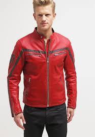 red leather biker jacket mens