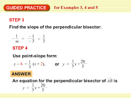 11 example 4 step 3 find the slope of the perpendicular bisector