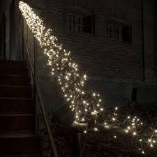 Outdoor Cluster Christmas Lights Konstsmide Christmas Cluster Light Set Multi Function Warm White Leds Black Cable 7 Lengths To Choose From