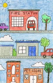 My Neighborhood Drawing Art Projects For Kids Art