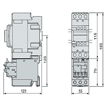 lrd350l overload relay 37 → 50 a 20 a schneider electric schneider electric tesys d range contactor accessories