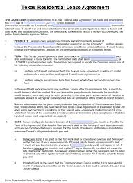 standard rental agreement template free texas standard residential lease agreement template pdf word