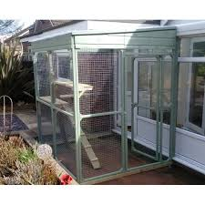 awesome outdoor cat enclosure connected to house bespoke run and pen diy attached uk canada for