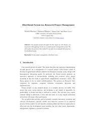 Research Project Report Distributed Scrum in Research Project PDF Download Available 2