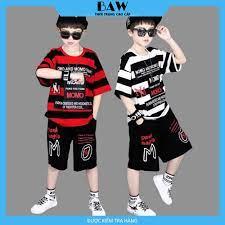 Set Đồ Bé Trai phong cách hàn quốc, chất thun cotton mát mịn thấm hút mồ  hôi, thời trang trẻ em thương hiệu BAW mã 101-102 - Áo bé trai