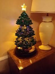 Atlantic Mold Ceramic Christmas Tree Lights Ceramic Light Up Christmas Tree Collector Bubble