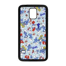 samsung galaxy s5 protective cases for girls. buy stevebrown5v the smurfs samsung galaxy s5 cases print for girls protective, case men protective [black] a