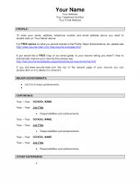 Resume Format Examplesesumes Word Simple Sample For Students Pdf