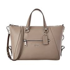 Coach Primrose Silver Fog Leather Satchel Handbag
