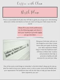 Different Birth Plan Options Customizable Birth Plan