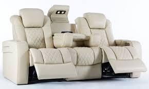 power theater sofa in cream leather