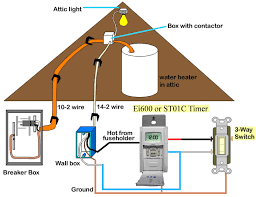 how to wire water heater two timers larger image intermatic ej500 and st01c are 3 way timers works for applications up to 100 feet away timers are rated 15 amp