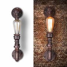 antique industrial lighting fixtures. nordic loft style industrial water pipe lamp vintage wall light for home antique bedside edison sconce indoor lighting fixtures g