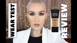 make up for ever matte velvet skin review wear test
