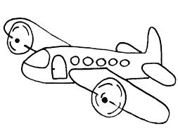 Vliegtuig Kleurplaten Vliegtuigje