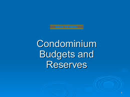 condo association budget template condominium budgets and reserves