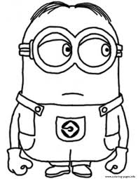 Coloring Pages Minions Coloring Book Pdf Dave The Minion