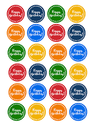 Happy Birthday Cupcake Toppers Free Printable Paper Trail Design