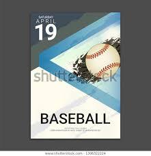 Free Baseball Flyer Template Flyer Poster Cover Design Template Baseball Stock Vector