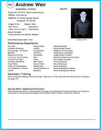 Child Acting Resume Template No Experience Free Resume Example