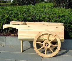 wood garden cart wheelbarrow planter display wooden garden cart kit