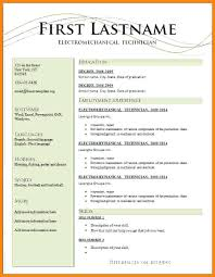 Free Resume Template Cv Download Word Format In Ms – Rigaud