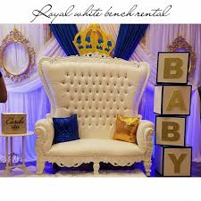 table and chair rentals brooklyn. All White Throne Bench Table And Chair Rentals Brooklyn