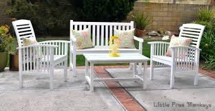 Painted Wood Patio Furniture How To Spray Paint Wood Chairs White