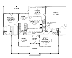 first floor plan of country house plan 68178 under 2000 sq ft
