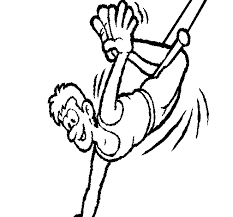 Small Picture Happy acrobat coloring page Coloringcrewcom