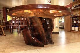 rustic table with embendments raw furniture furniture with rustic round dining table set for 6 and