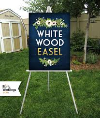 Foam Board Display Stand WHITE Easel Wood 100ft Floor Display Large Wedding Sign Stand 52