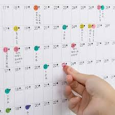 Callendar Planner 2019 2020 Yearly Calendar Year Planner Memo Organiser Annual Schedule Daily With Sticker Dots Wall Planner Stationery Office