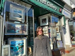 diane-hutt-gallery-with-diane-outside - Uckfield News