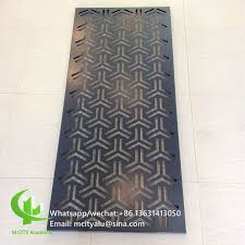 metallic aluminum perforated sheet metal facade cladding bending sheet 2 5mm thickness for curtain wall decoration