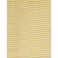 williamsburg striped yellow 9 0 x 12 0 area rug