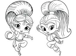 Shimmer And Shine Coloring Pages Nick Jr Coloring Pages Page Book