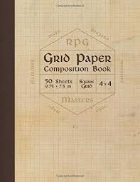 Rpg Grid Paper Composition Book Blank Quad Ruled Graph