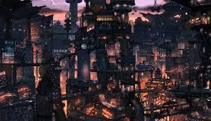 futuristic city with many levels future wallpaper