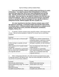 Tips For Writing A Literary Analysis Essay