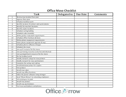 Internal Office Move Checklist Template Post Moving Coupons Address