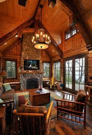 Rustic Style Living Room Designs With Vaulted Ceilings And Stone ...
