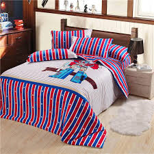 promotion classic transformers printed bedding set 100 cotton new soft duvet cover set queen size children favorite black comforter sets duvet covers full
