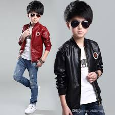 2017 new baby boys leather jacket kids coats spring kids leather jackets boys casual black solid children outerwear clothing kid jacket childrens