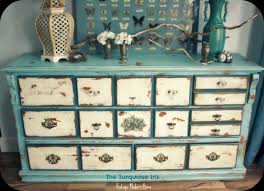 distressed blue furniture. Vintage Distressed Dresser In Blue \u0026 Creme Furniture D
