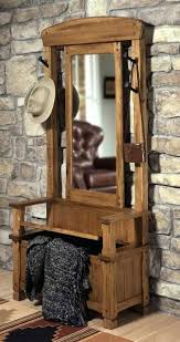 Coat Rack Bench With Mirror Extraordinary Mirror With Shelves For Hallway Bench Shoe Storage And Coat Rack