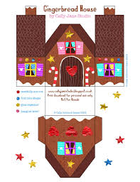 6 Free Diy Paper Gingerbread Houses The Celebration Shoppe